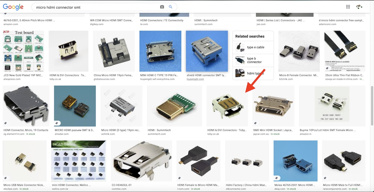 micro HDMI connector search